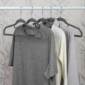 Beldray LA063717GRYEU 10 Pack Premium Velvet Clothes Hangers, Grey Thumbnail 10