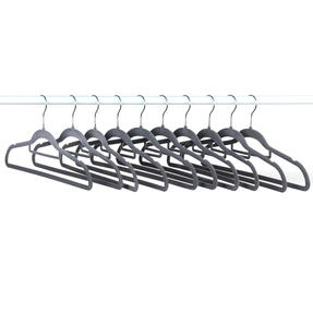 Beldray LA063717GRYEU 10 Pack Premium Velvet Clothes Hangers, Grey Thumbnail 11