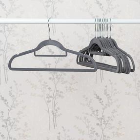 Beldray LA063717GRYEU 10 Pack Premium Velvet Clothes Hangers, Grey Thumbnail 2