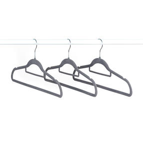 Beldray LA063717GRYEU 10 Pack Premium Velvet Clothes Hangers, Grey Thumbnail 7