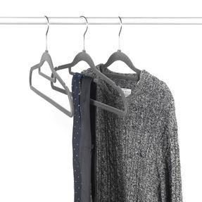 Beldray LA063717GRYEU 10 Pack Premium Velvet Clothes Hangers, Grey Thumbnail 9