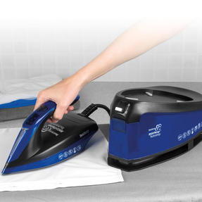 Beldray BEL0905 Steam Station Optimal Temperature Iron with Ceramic Soleplate, 1.5 L, 3000 W, Blue/Black Thumbnail 5