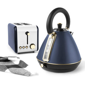 Salter Pyramid Kettle,3 kW,  Navy/Gold Thumbnail 7