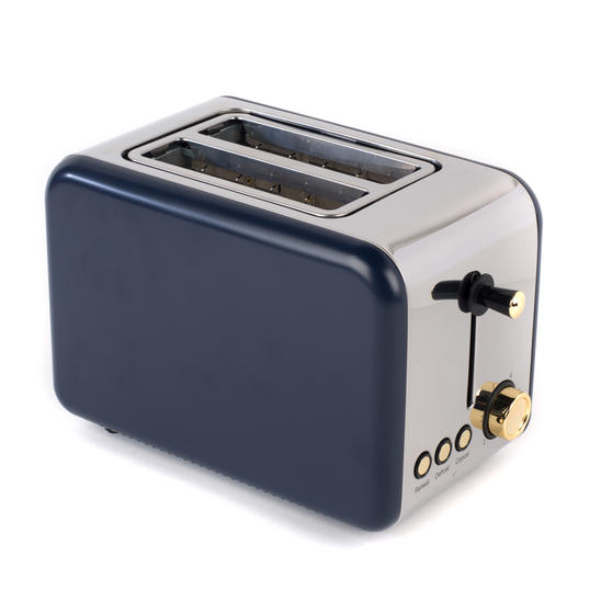 Salter 2-Slice Toaster, Navy/Gold