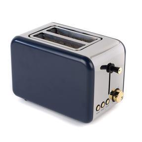 Salter EK2652NG 2-Slice Toaster, Navy/Gold Thumbnail 1