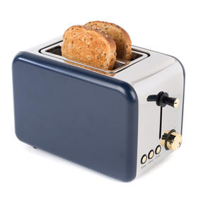 Salter 2-Slice Toaster, Navy/Gold Thumbnail 2