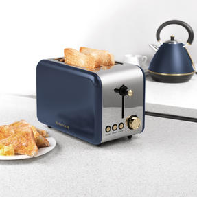 Salter 2-Slice Toaster, Navy/Gold Thumbnail 6