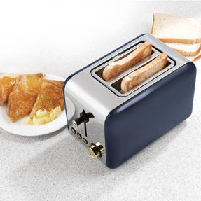 Salter 2-Slice Toaster, Navy/Gold Thumbnail 7