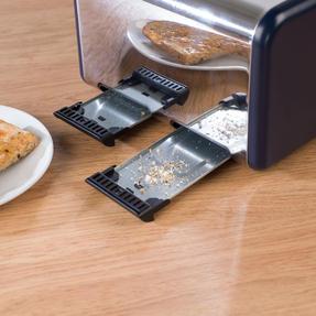 Salter EK3352NG 4-Slice Toaster, Navy/Gold Thumbnail 11