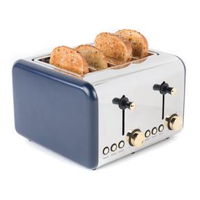 Salter EK3352NG 4-Slice Toaster, Navy/Gold Thumbnail 2