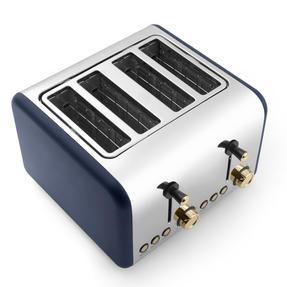Salter EK3352NG 4-Slice Toaster, Navy/Gold Thumbnail 3