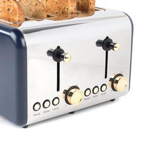 Salter EK3352NG 4-Slice Toaster, Navy/Gold Thumbnail 4