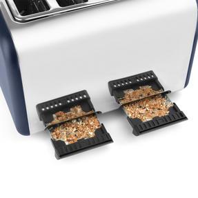 Salter EK3352NG 4-Slice Toaster, Navy/Gold Thumbnail 5