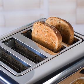 Salter EK3352NG 4-Slice Toaster, Navy/Gold Thumbnail 7