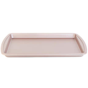 Salter BW07910C Carbon Steel Matte Metallic Non-Stick Rectangular Baking Tray, 38 cm, Champagne
