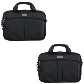 Antler COMBO-4961 Business Laptop Case Sleeve Bag Carrier, 28 cm, Black, Set of 2