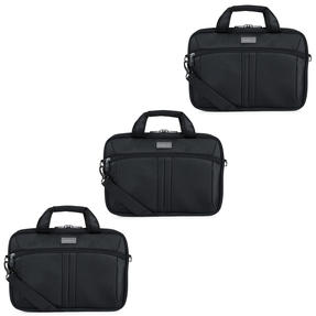 Antler COMBO-4962 Business Laptop Case Sleeve Bag Carrier, 28 cm, Black, Set of 3