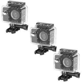 Intempo COMBO-4984 Waterproof Wide Angle IPX8 Action Camera, Set of 3