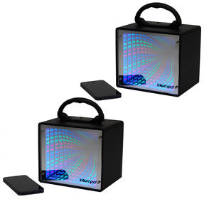 Intempo COMBO-4985 LED Infinity Light Mini Tunnel Speaker, 5 W, Set of 2