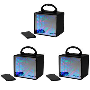 Intempo COMBO-4986 LED Infinity Light Mini Tunnel Speaker, 5 W, Set of 3
