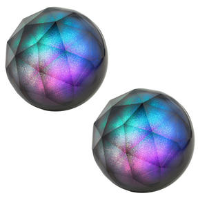 Intempo COMBO-4999 Glitter Ball Bluetooth Speaker with Colourful LED Lights, 5 W, Set of 2