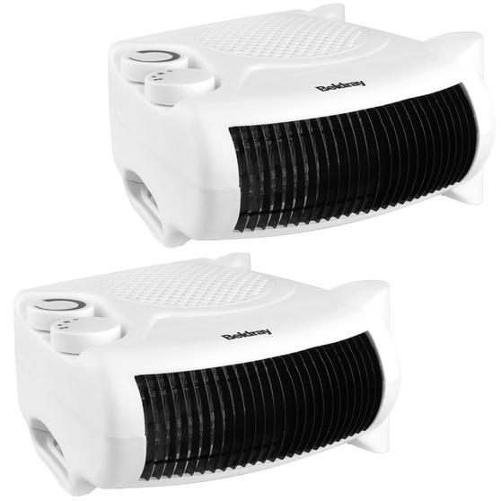 Beldray COMBO-5009 Flat Fan Portable Heater, 1000-2000W, Set of 2