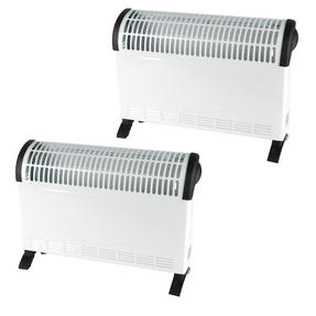 Beldray COMBO-5013 Electric Portable Convector Heater, 2000 W, White, Set of 2
