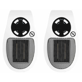 Beldray COMBO-5014 Compact Plug-in Heater, 450W, White, Set of 2 Thumbnail 1