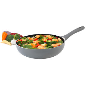 Salter COMBO-5020 Crystalstone Collection Wok, 28cm, Grey, Set of 2 Thumbnail 2
