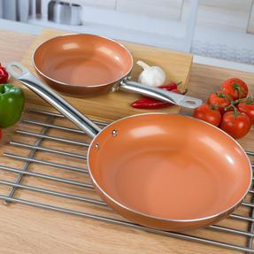 Salter COMBO-4757 20cm and 28cm Copper Frying Pan Set Thumbnail 4