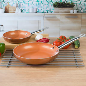 Salter COMBO-4757 20cm and 28cm Copper Frying Pan Set Thumbnail 5
