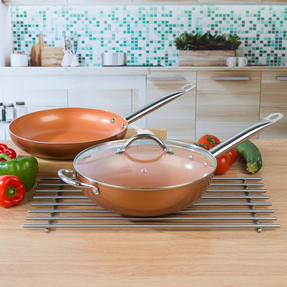 Salter COMBO-4758 28cm Copper Non-Stick Frying Pan and Wok Set Thumbnail 6