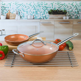 Salter COMBO-4759 20cm Copper Non-Stick Frying Pan and 28 cm Wok Thumbnail 7