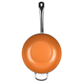 Salter COMBO-4760 20cm Copper Non-Stick Wok and Frying Pan Set, 20cm/28cm Thumbnail 5