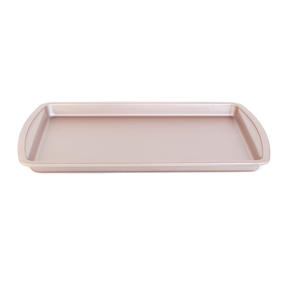 Salter COMBO-4368 Metallic Oven Baking Tray, 38 cm, Champagne, Set of 2 Thumbnail 3