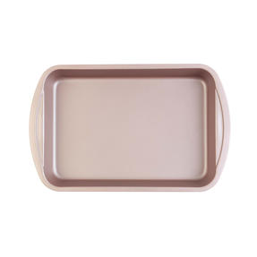 Salter COMBO-4369 Metallic Oven Roasting Tin Tray, 38 cm, Champagne, Set of 2 Thumbnail 2
