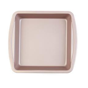 Salter COMBO-4370 Metallic Oven Square Tin Pan, 26 cm, Champagne, Set of 2 Thumbnail 2