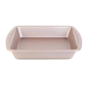 Salter COMBO-4370 Metallic Oven Square Tin Pan, 26 cm, Champagne, Set of 2 Thumbnail 3