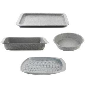 Salter COMBO-4723 Marble Baking and Roasting Set with Chip Tray, Roasting Tray, Baking Tray and Round Pan Thumbnail 1