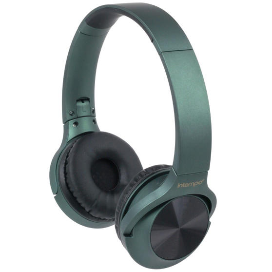 Intempo Urban WDS180 Wireless Bluetooth Foldable Headphones, Green
