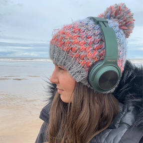Intempo EE4661GRNSTKEU Urban WDS180 Wireless Bluetooth Foldable Headphones, Green Thumbnail 6