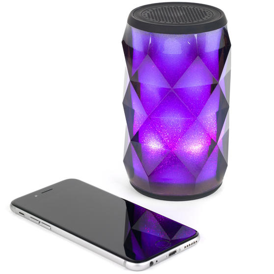 Pulsar EE3433BLKACTCO Crystal Can Bluetooth Speaker for iPhone, Android and Other Smart USB Devices, Black