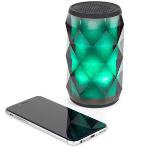 Pulsar EE3433BLKACTCO Crystal Can Bluetooth Speaker for iPhone, Android and Other Smart USB Devices, Black Thumbnail 6