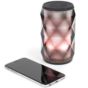 Pulsar EE3433BLKACTCO Crystal Can Bluetooth Speaker for iPhone, Android and Other Smart USB Devices, Black Thumbnail 7