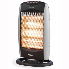 Prolectrix EH0197SPRON Halogen Heater, 1200 W, Grey