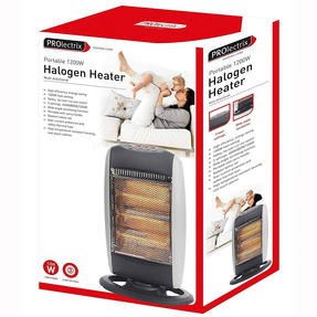 Prolectrix EH0197SPRON Halogen Heater, 1200 W, Grey Thumbnail 6