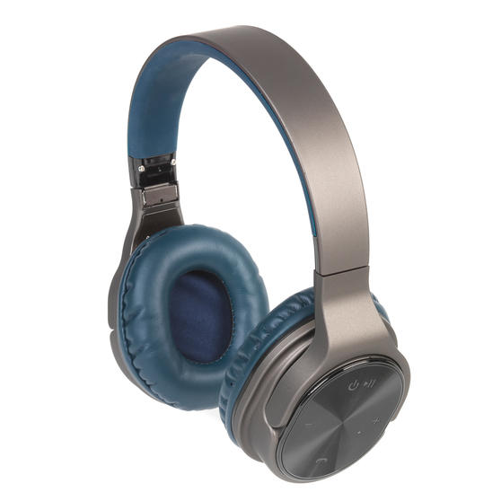 Intempo EE4805BLUSTKEU Opulence WDS25 Wireless Bluetooth Headphones, Gold/Navy