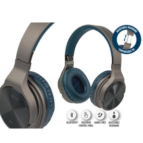 Intempo EE4805BLUSTKEU Opulence WDS25 Wireless Bluetooth Headphones, Gold/Navy Thumbnail 8