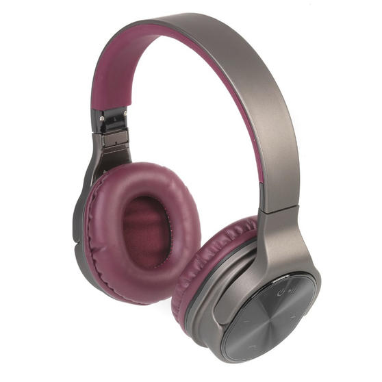 Intempo Opulence WDS25 Wireless Bluetooth Headphones, Gold/Berry