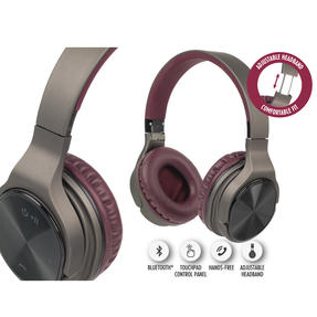 Intempo EE4805BRYSTKEU Opulence WDS25 Wireless Bluetooth Headphones, Gold/Berry Thumbnail 10